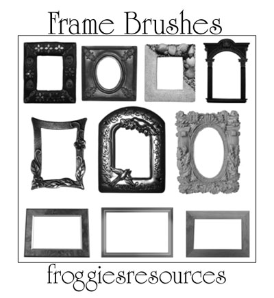 100+ Free Photoshop Frame Brushes To Decorate Your Designs Designbeep
