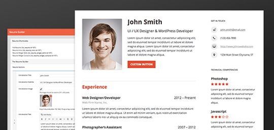Resume Builder \u2013 A Wordpress Plugin To Build out your Complete