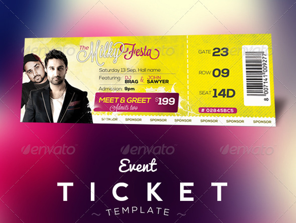 Free Download  Event Tickets Template (PSD) Designbeep