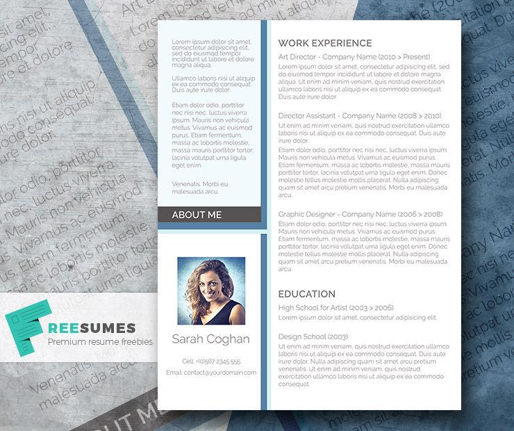 A Splash of Blue \u2013 The Free Modern Resume Design ePin - Free