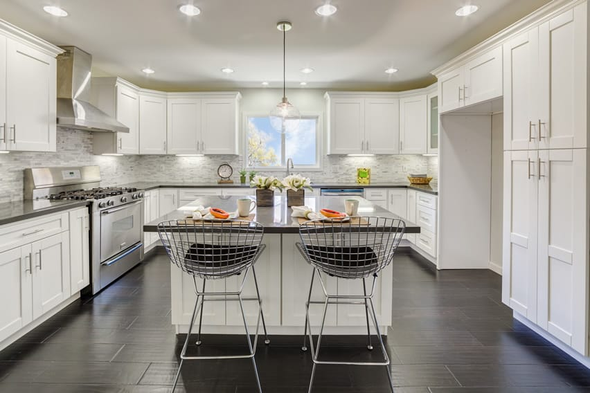 white kitchen islands features rectangle white lacquer counter island kitchen cabinets recycled kitchen design ideas