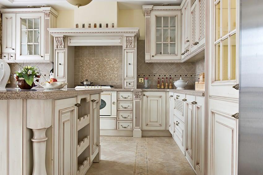 classic style kitchens beauty lies white kitchen cabinet glass metal backsplash tile backsplash