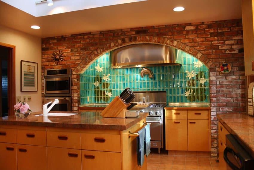 brick kitchen design ideas tile backsplash accent walls kitchen ceramic tile backsplash modern ceramic tile backsplash ceramic