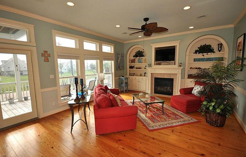 39 Beautiful Living Rooms With Hardwood Floors - Designing Idea