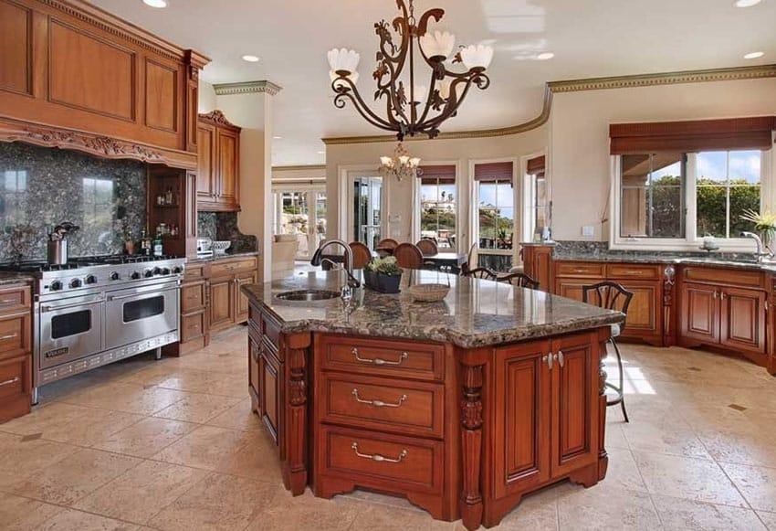 traditional kitchen dark granite slab backsplash travertine kitchen backsplash traditional kitchen