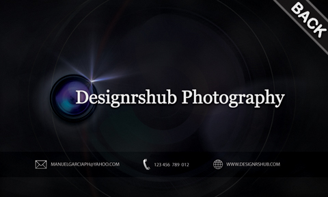 Free Business Card PSD Template for Photographers - card templates for pographers