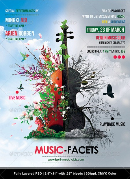 15 Provoking Examples of Lovely Music Flyer Template - music flyer template