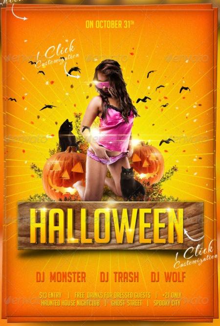 20 Halloween Flyer Templates for Halloween Party Events - microsoft templates for flyers