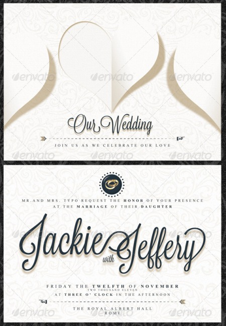 Wedding Information Card Template wblqual