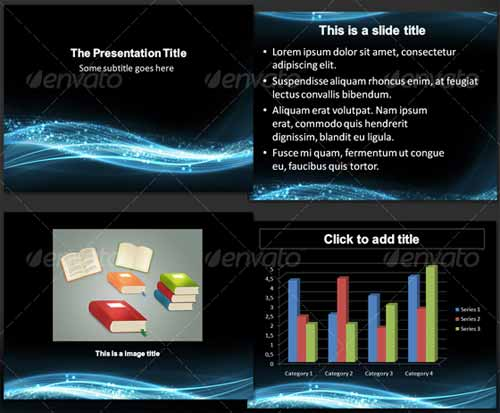 20 Unique Abstract PowerPoint Design Templates - scientific ppt background
