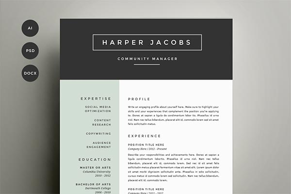 15 Microsoft Word Resume Templates and Cover Letters - Microsoft Word Resume Templates