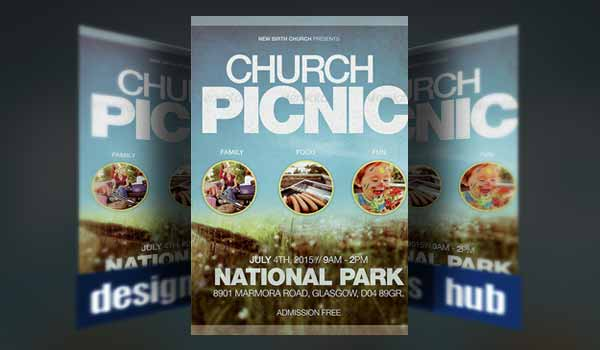 20 Church Flyer Templates for Service And Event Promotions - picnic flyer template