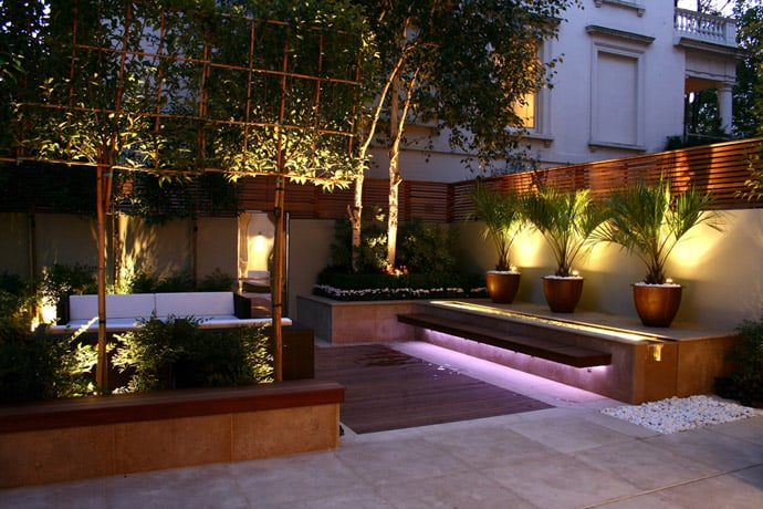 Iluminacion Exterior Para Jardin Y Fachadas 40 Ideas Of How To Design A Garden With Clean Lines And