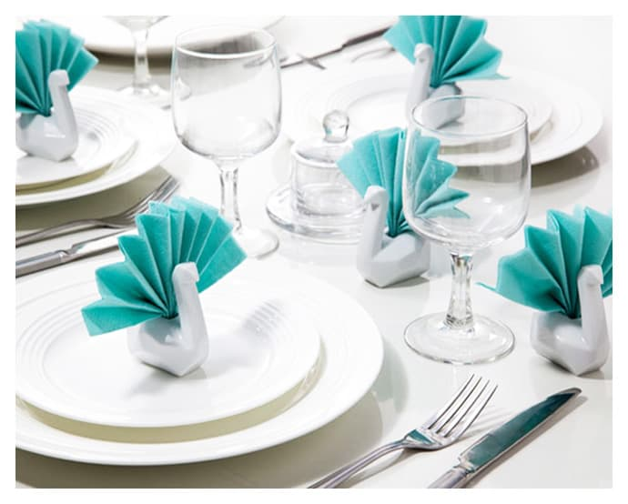 Porcelain Swan Napkin Holders Bring Elegance To Your Table