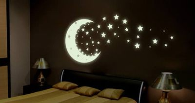 Glow In The Dark Moon And Stars For Bedroom