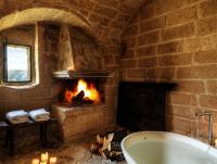 25 Bathroom Fireplaces That Make Any Bath a 'Wow' Therapy