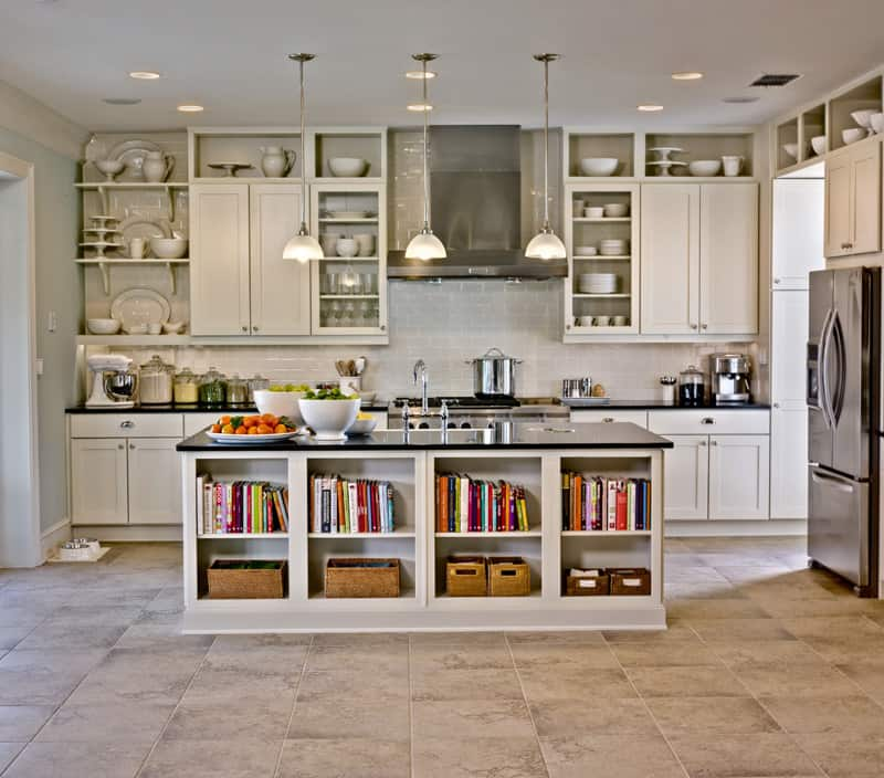 35 Bright Ideas for Incorporating Open Shelves in Kitchen - kitchen shelving ideas