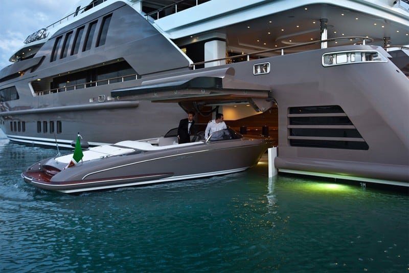 The most spectacular yacht in the world with indoor pool aquarium and