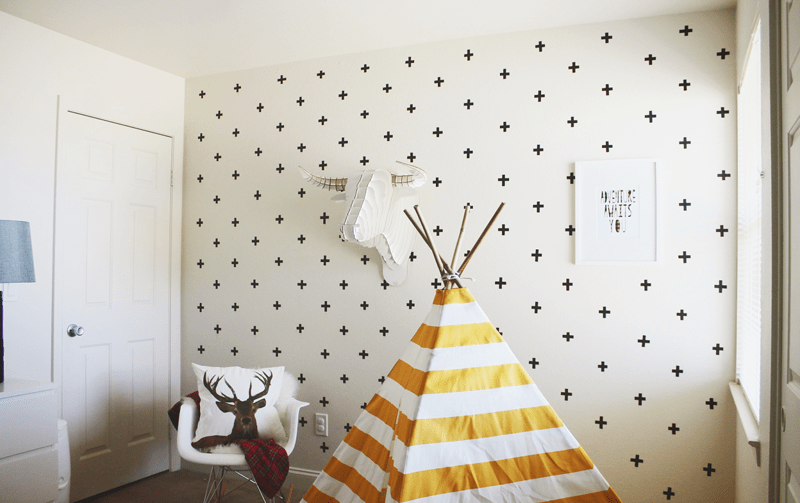 Poppenhuis Behang 10 Diy Wall Decorations With Washi Tape