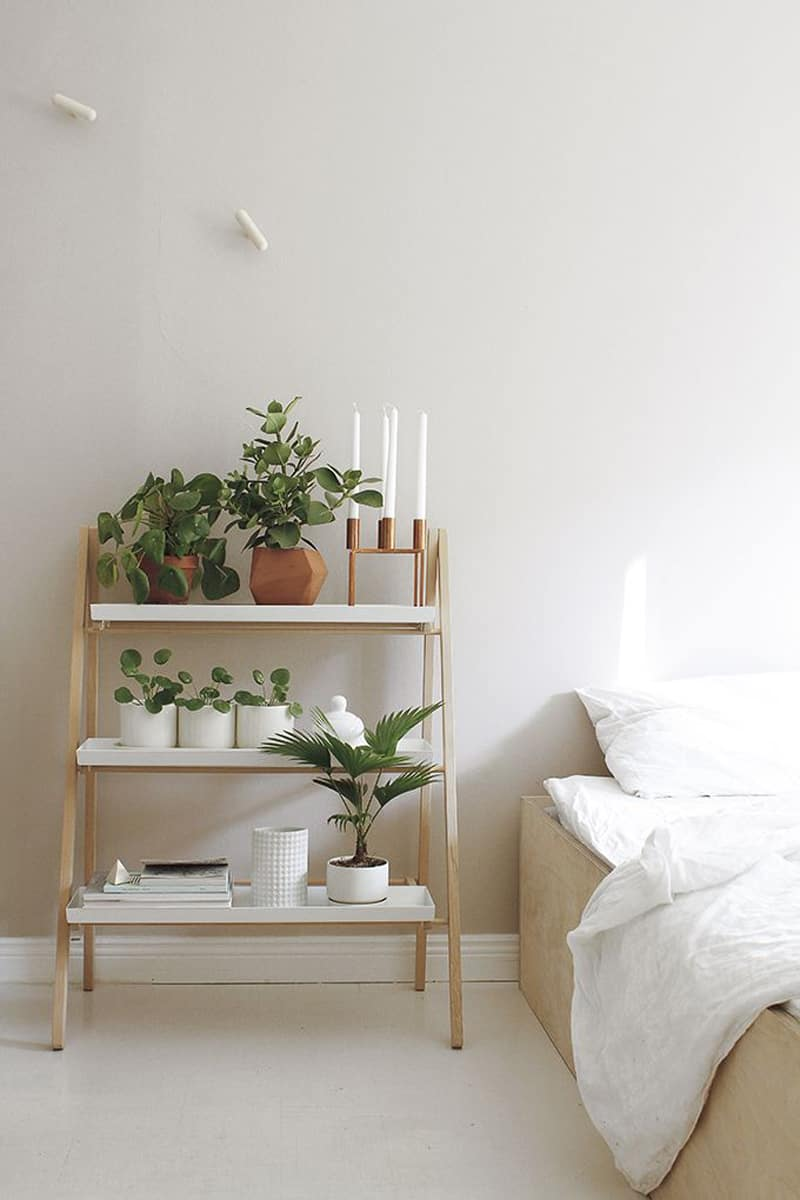 Ikea Cheap Bed How To Decorate Your Interior With Green Indoor Plants And