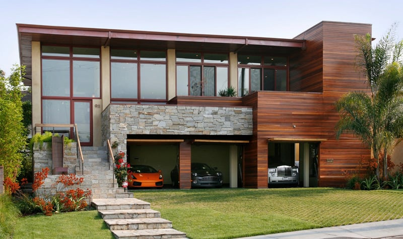 20 Open Garages Accommodated To Houses - Garage Moderne