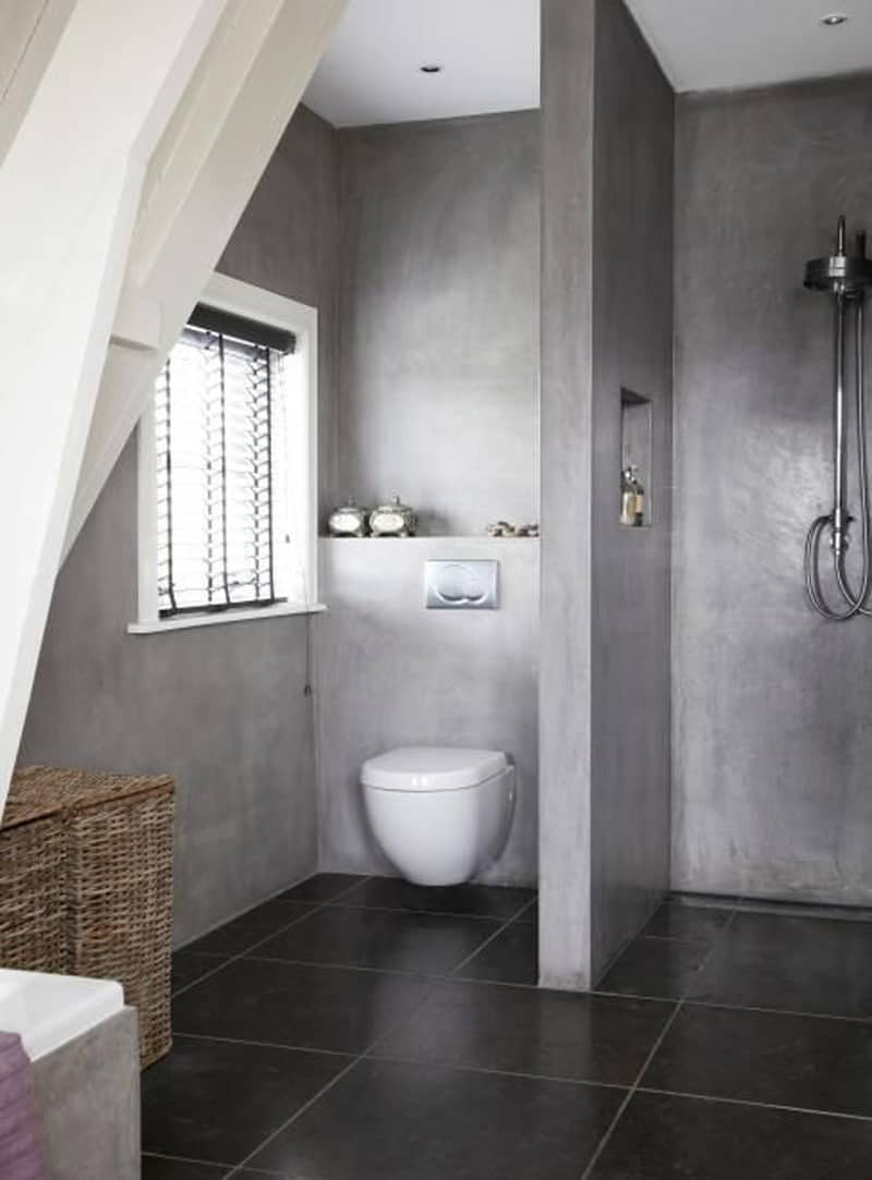 Badkamer Wand Glas 20 Amazing Bathroom Designs With Concrete