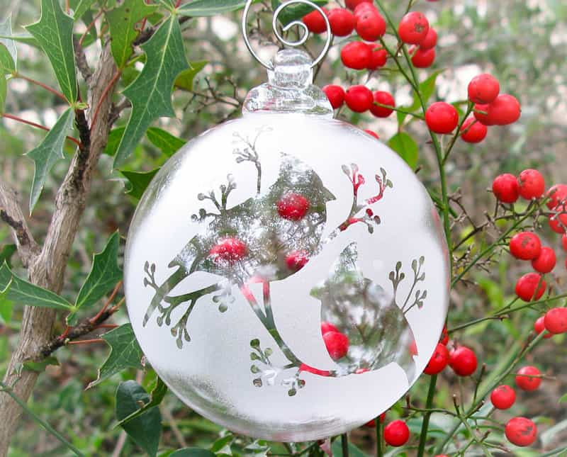 christmas clear glass ornaments