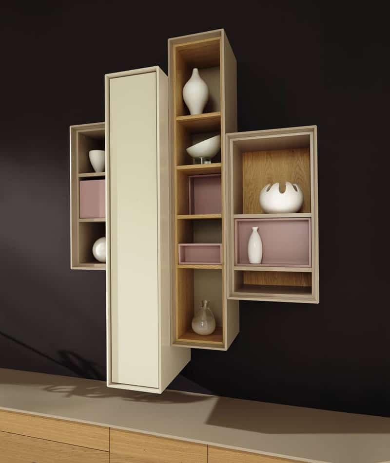 floating shelves contemporary