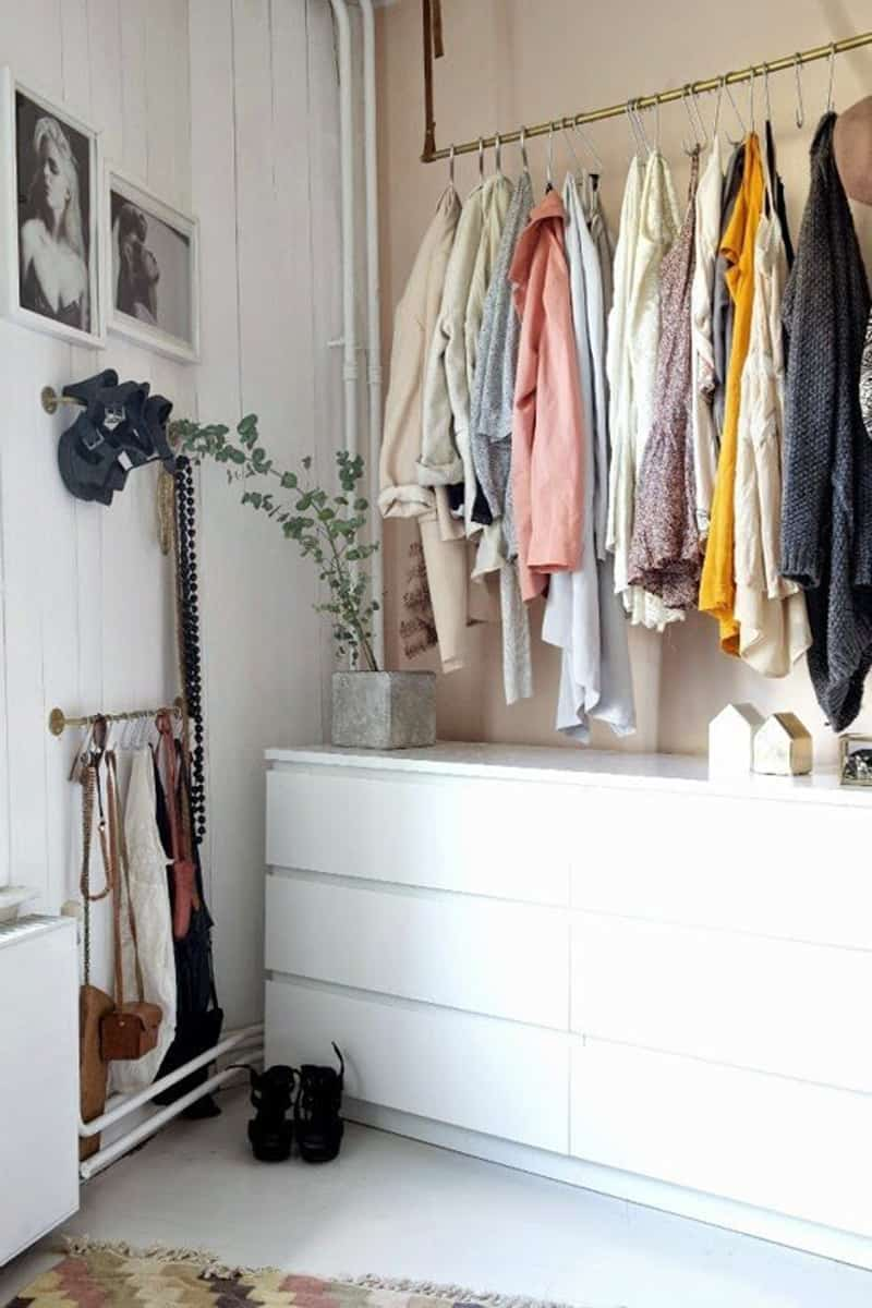 Bedroom Clothes Storage Ideas For Storing Clothes Without Closets