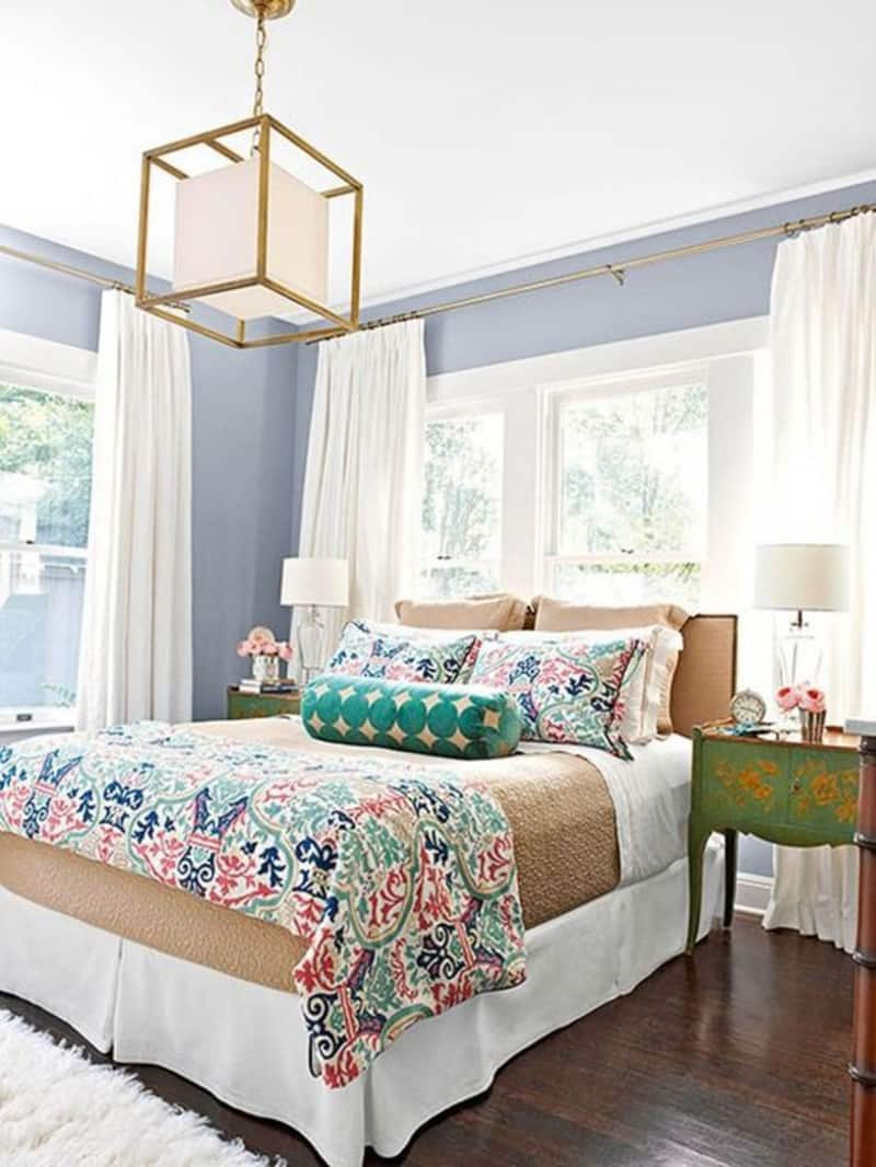 Headboards In Front Of Windows 50 Ideas For Placing A Bed In Front Of A Window