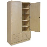 Hann Tall Storage Cabinet with Drawers - BLICK art materials