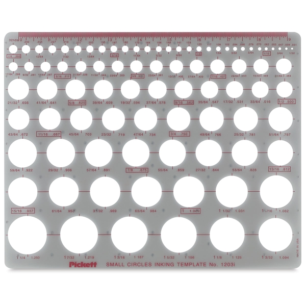 Chartpak Pickett Circle Templates - BLICK art materials - circle template