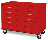ID Systems Five-Drawer Paper Storage Cabinets - BLICK art ...