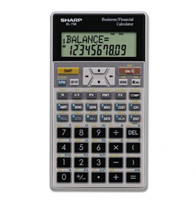 Sharp EL-738C 10-Digit Financial Calculator
