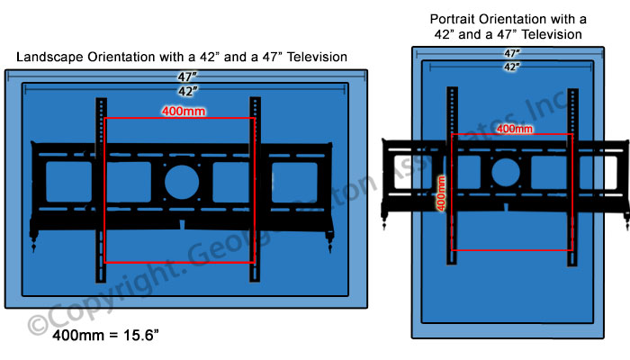 Locking Tv Wall Mount With Tilting Arms 2 Locks