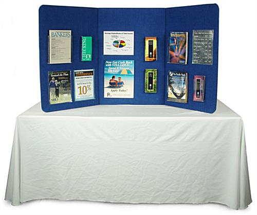 Blue Hook and Loop Display Board For Table Top Trade Show Display