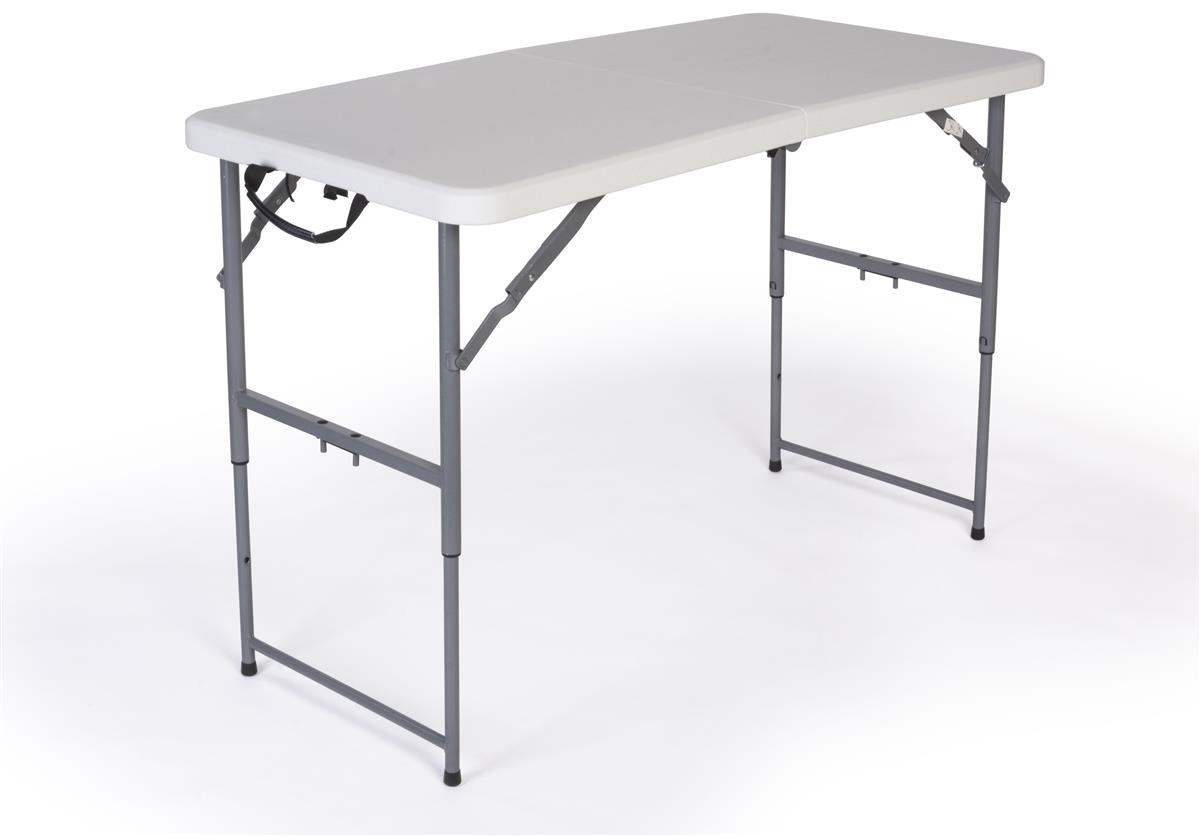 Built In Folding Table Folding Table With Adjustable Height 4 Foot Long With