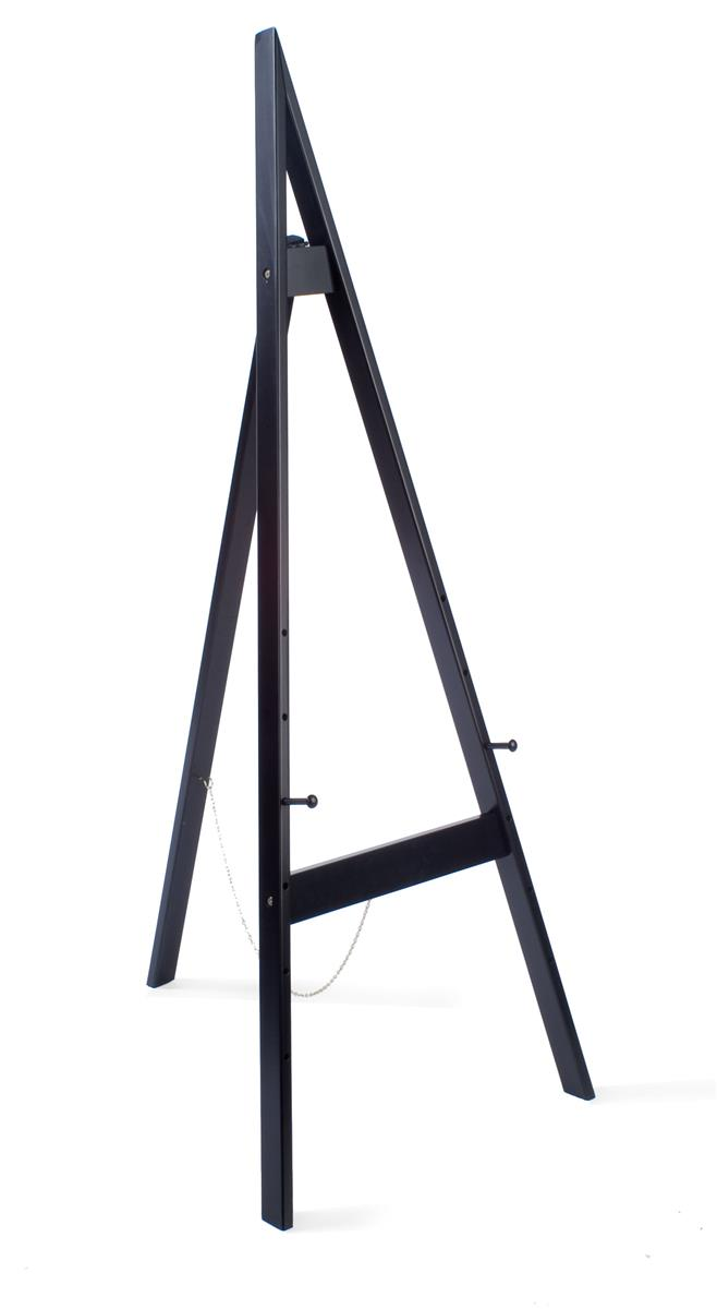 Easels Wood Easel For Floor With Height Adjustable Display Pegs Black