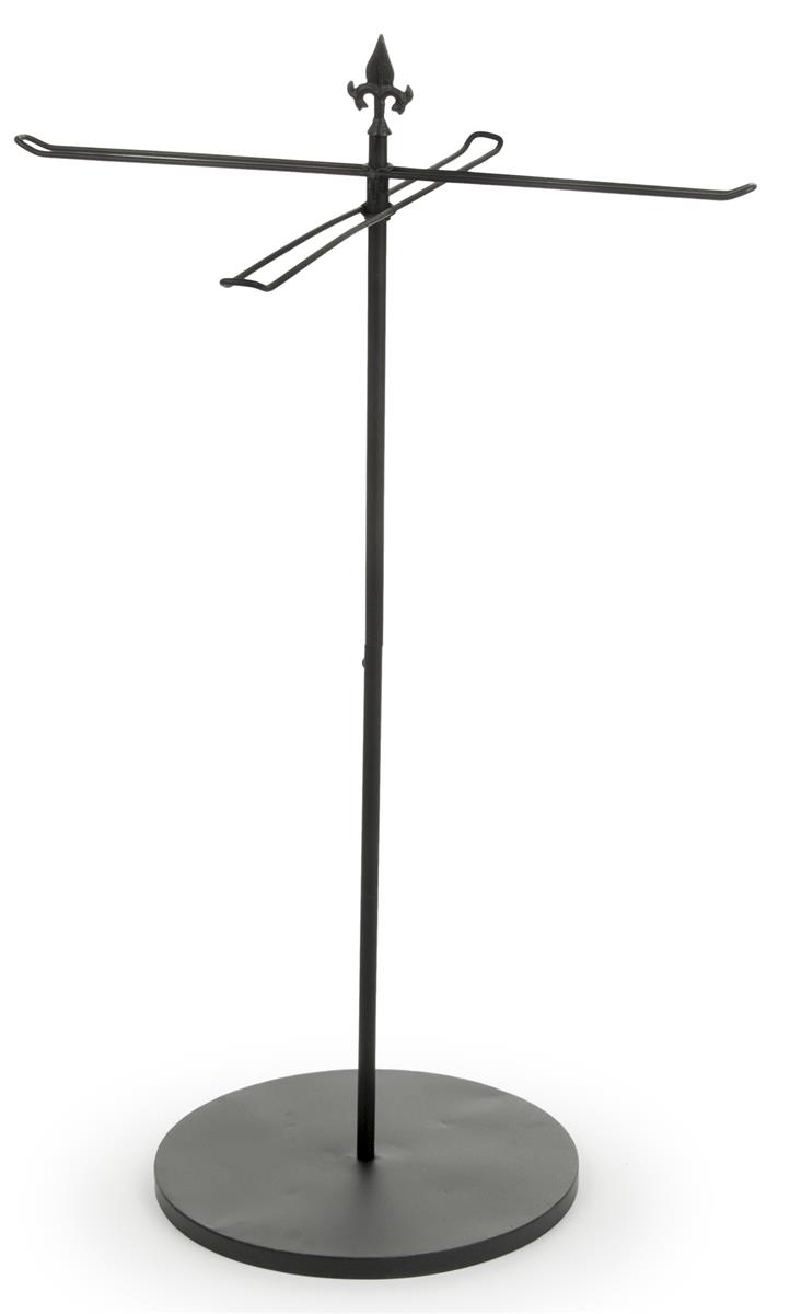 Black Clothing Rack Purse Rack Stand | Retail Fixture With Four-way Straight Arms