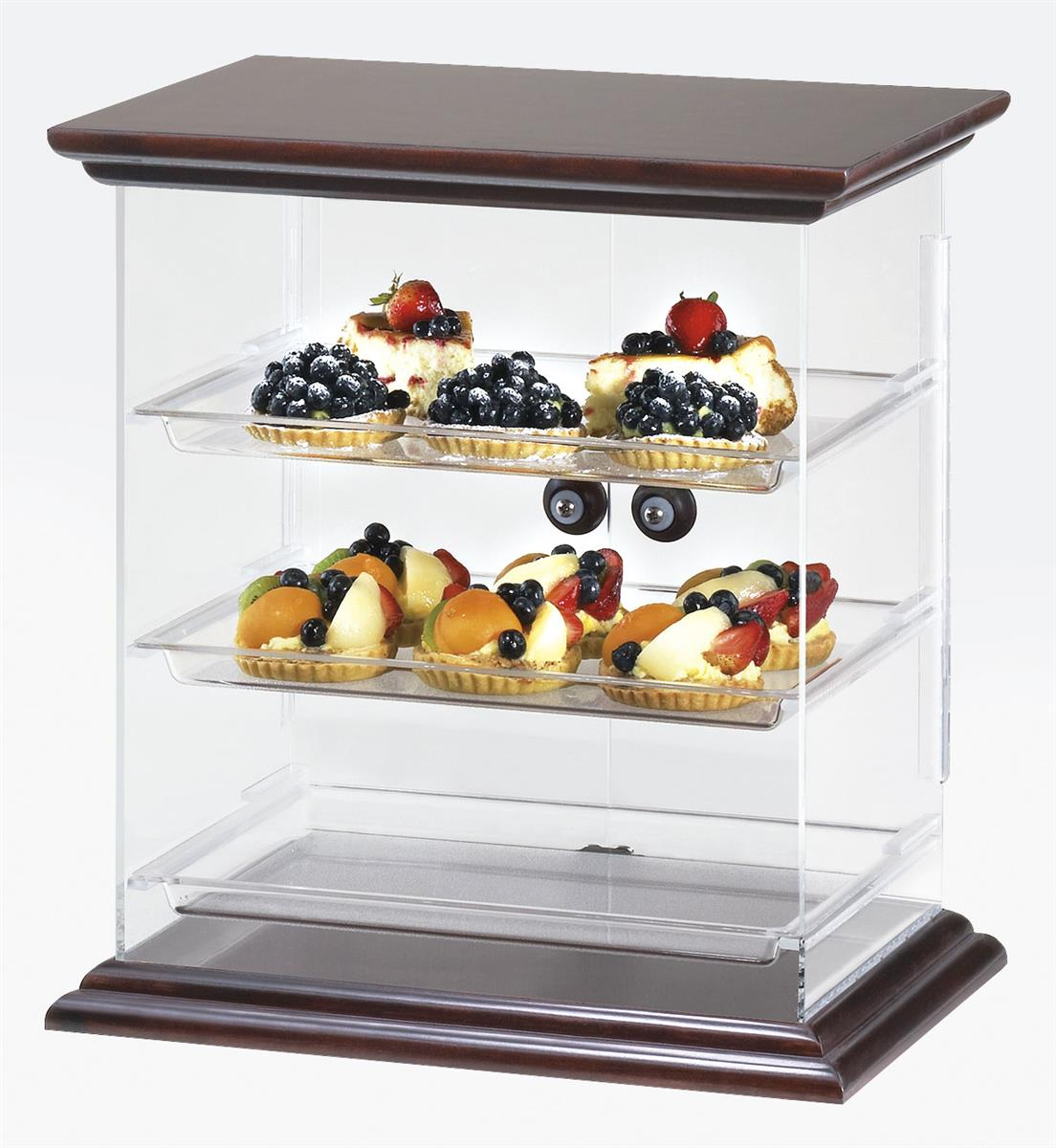 Countertop Bakery Case Bakery Display Wooden Top And Base W Removable Trays