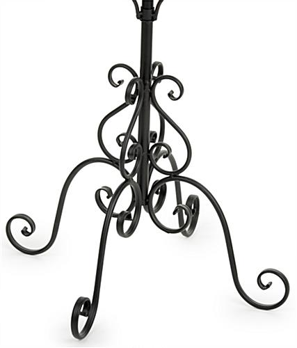 Wrought Iron Coat Rack 2 Tier Stand With 16 Hooks