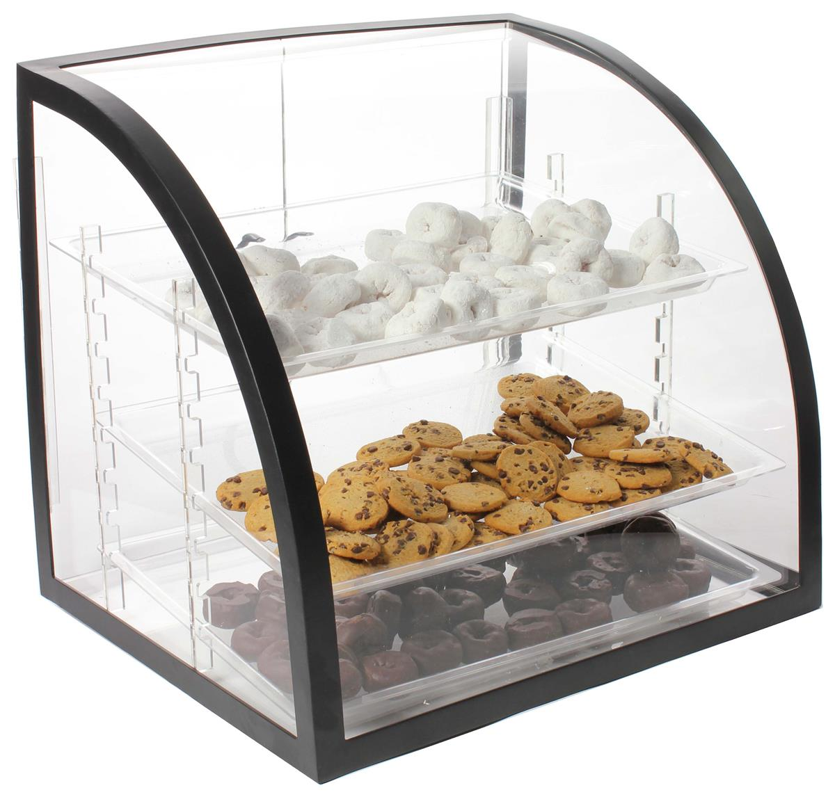 Countertop Bakery Case Bakery Display Case Metal Frame Removable Trays And Rear