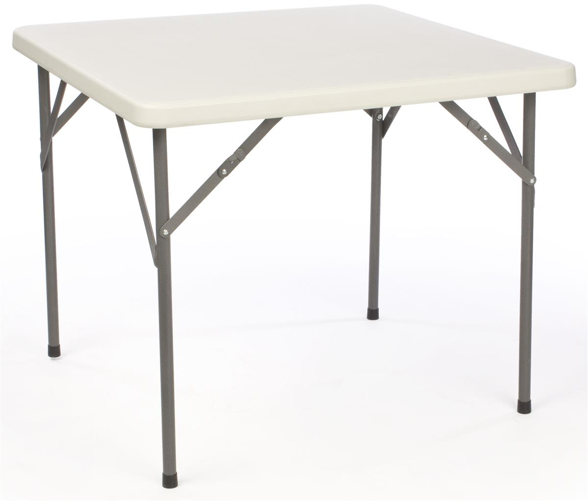 Folding Table Square Folding Card Table Plastic Top With Folding Legs