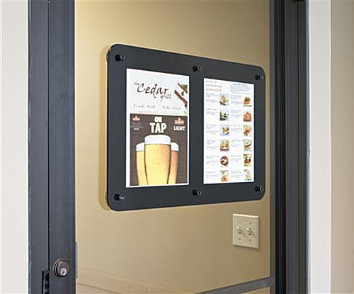 Acrylic Signs 2 Panel Window Sticking Poster Frame