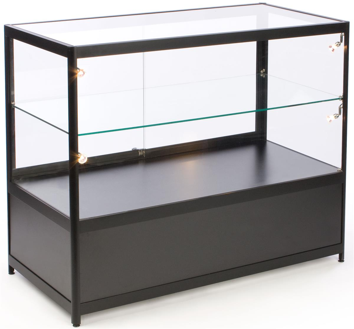 Glass Display Cabinets Perth Glass Counter Locking Storage Base W Black Lights