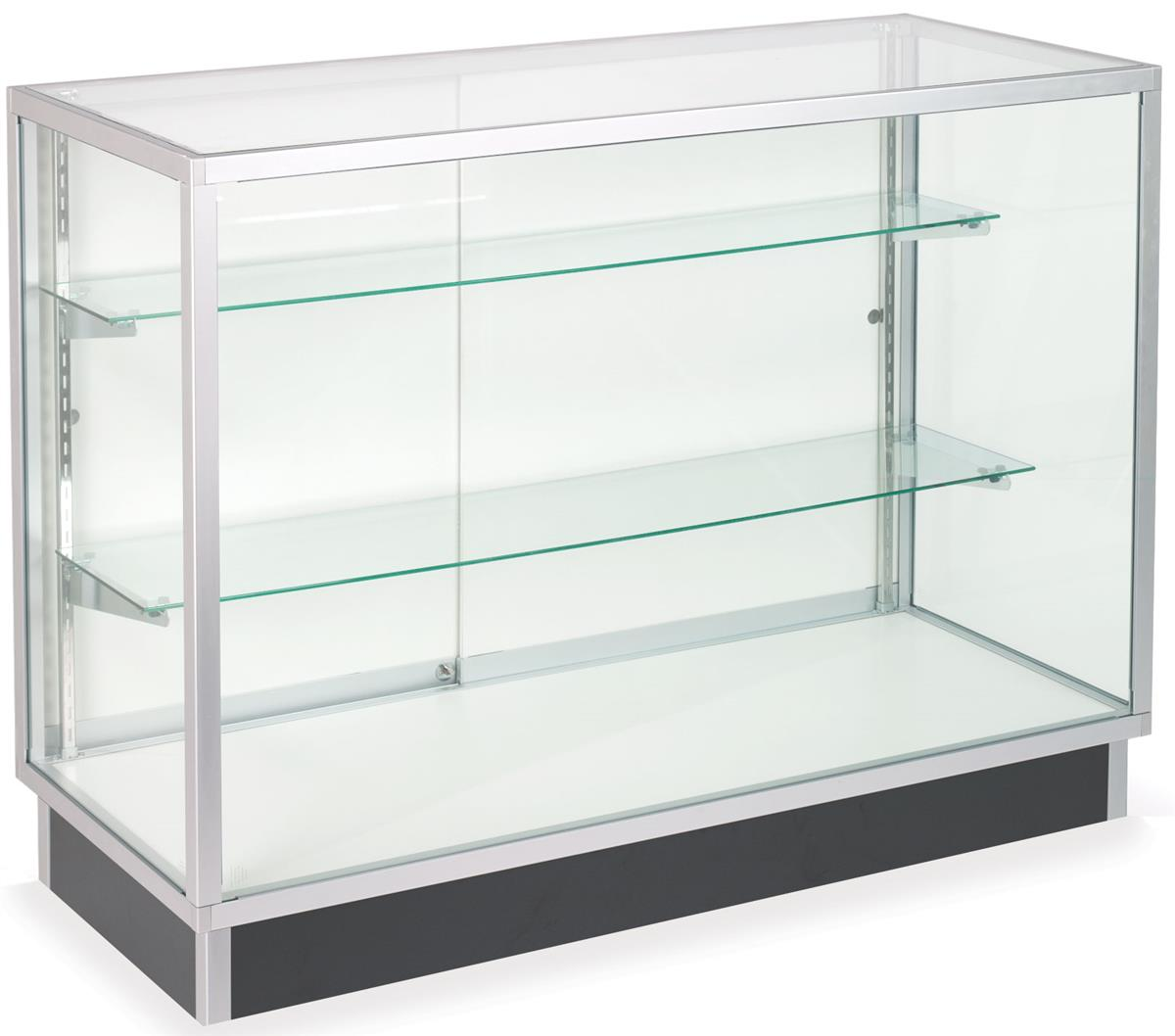 Glass Vitrine Glass Laminate Door Cabinets Four Foot Wide Display Cases