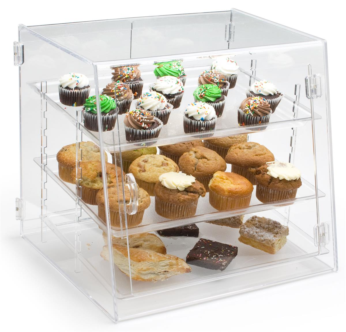 Countertop Food Display Case Acrylic Food Display Case With 3 Trays