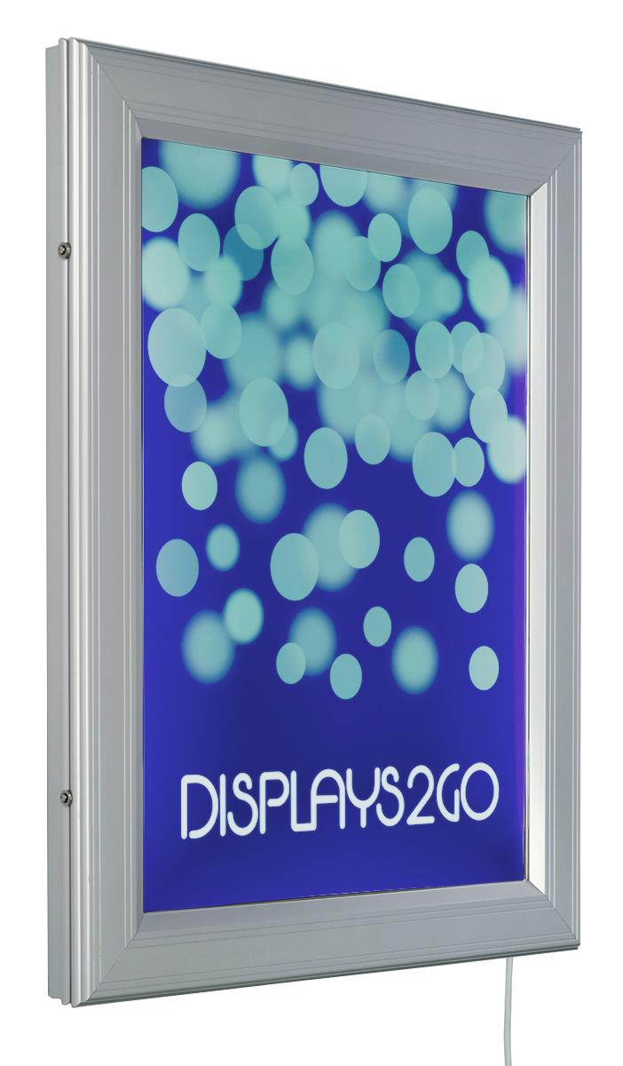 Foto 18x24 18 X 24 Outdoor Led Light Box For Wall Swing Open Silver