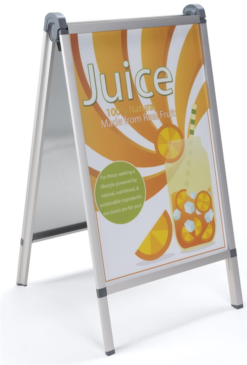 Silver Aluminum Outdoor Snap Poster A Frame 24x36 Posters