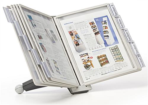 Expandable Table Desktop Reference System | (10) Panels & Affixed Base
